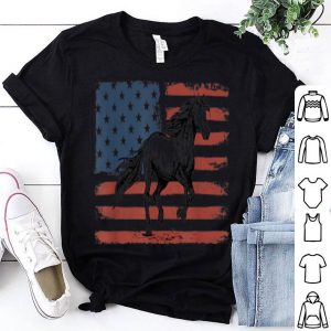 Horse American Flag USA Patriotic shirt