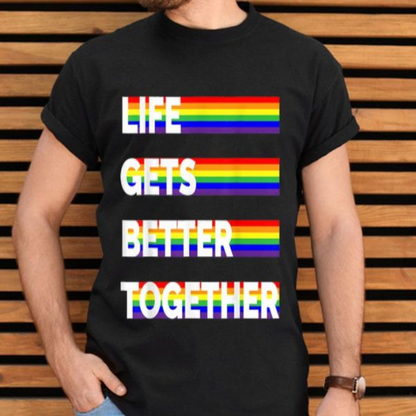 LGBT Gay Pride With Equality LGBTQ Flag shirt
