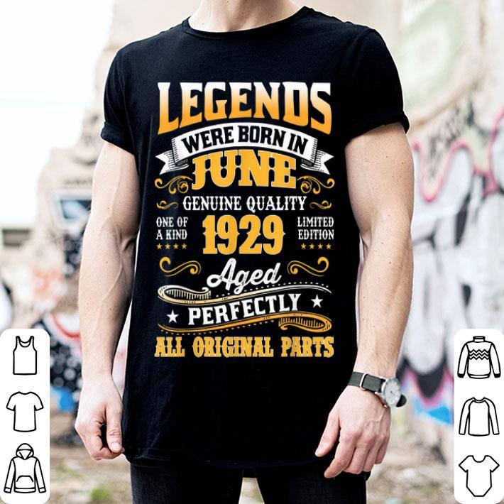 Legend Born June 1929 90th Birthday 90 Year Old Shirt