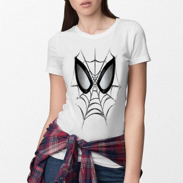 Marvel Spider-man Web Face Kids Graphic Shirt