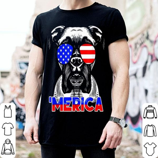 Merica Boxer 4th Of July Independence Day shirt