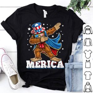Merica Dabbing Bigfoot Uncle Sam Costume Hat 4th of July shirt