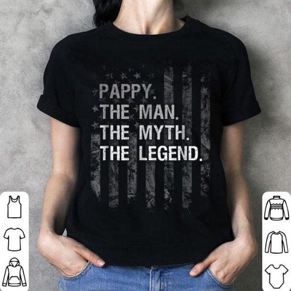 Pappy The Man Myth Legend Black American Flag shirt