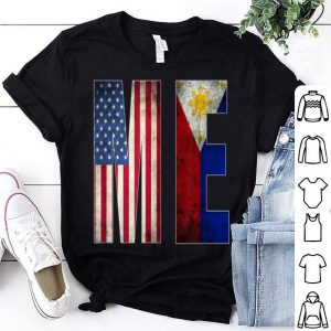 Philippines American flag distressed USA vintage ME shirt
