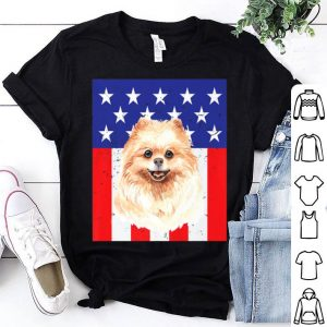 Pomeranian Usa Star Spangled Proud Mom Dad Family Premium Shirt