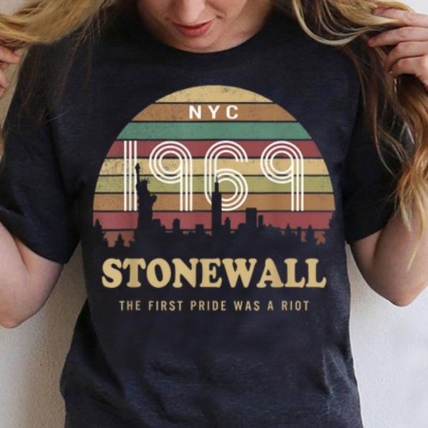 Pride NYC 50th Anniversary Stonewall 1969 The First Pride Was A Riot LGBTQ shirt