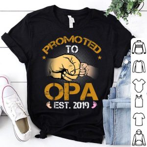 Promoted To Opa Est 2019 New Dad Fathers Day shirt