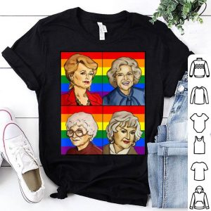 Rainbow Flag Golden Friend Girls LGBT Pride shirt
