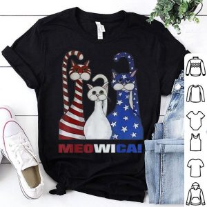 Red White Blue Cat American Flag Patriotic Shirt