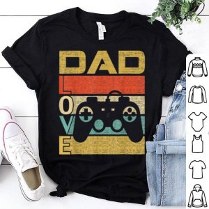 Retro Vintage Dad Love Video Game Fathers Day shirt