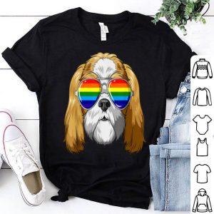 Shih Tzu Gay Pride Flag LGBT Rainbow Sunglasses Shih Tzu Shirt