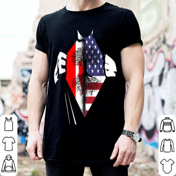 Super American Canada Heart USA Canadian Roots shirt