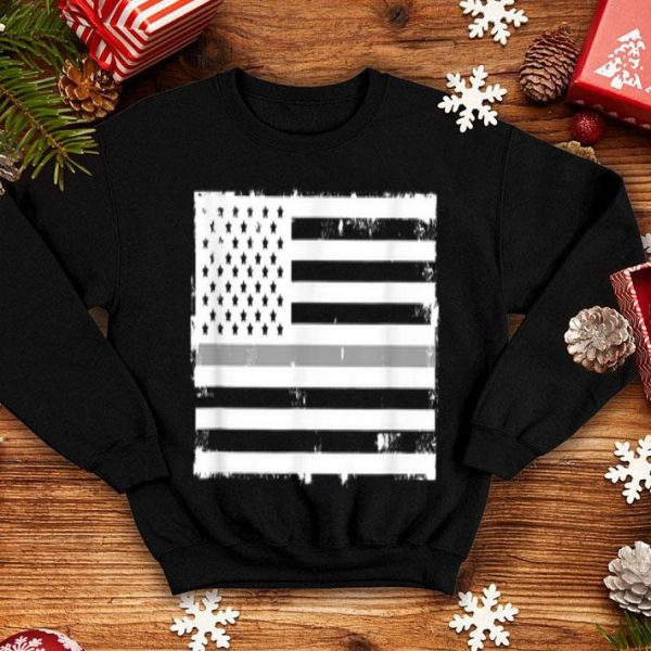 Thin Silver Line American Flag Penal Correctional Officer shirt