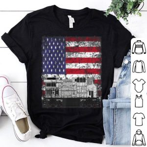 Train Railroad American Flag shirt