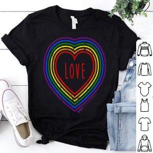 Vintage Love, Gay Pride LGBT Rainbow Flag Shirt