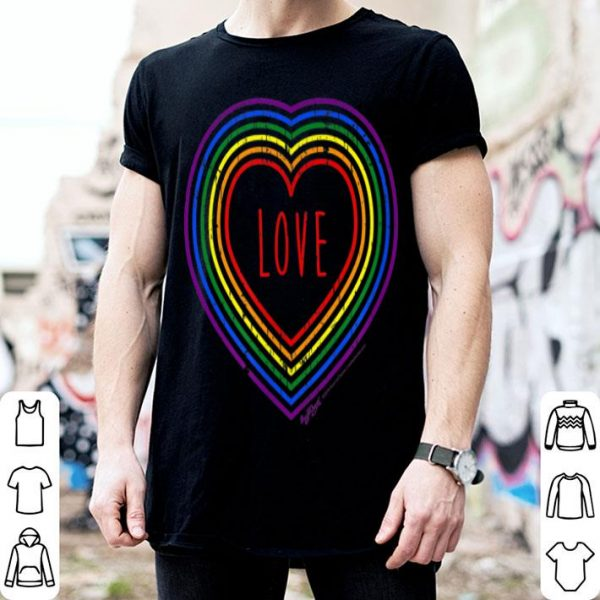 Vintage Love, Gay Pride LGBT Rainbow Flag Shirt