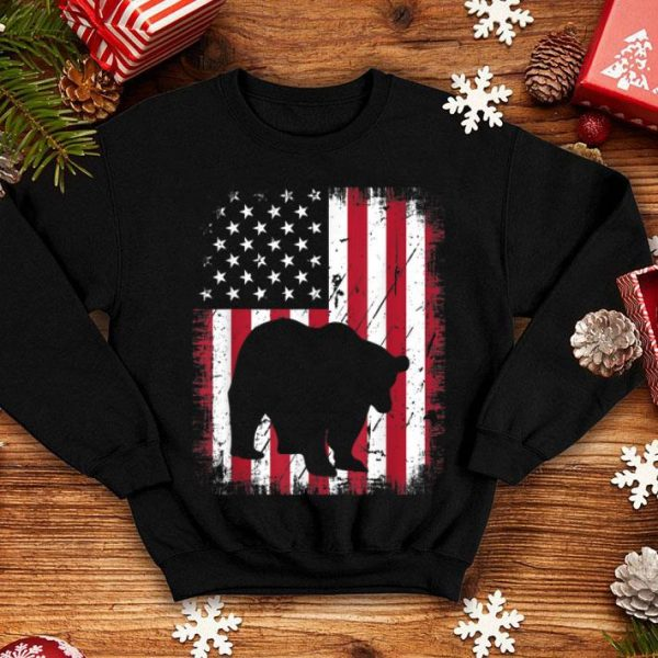 Vintage Panda Bear American Flag 4th Of July Patriotic shirt