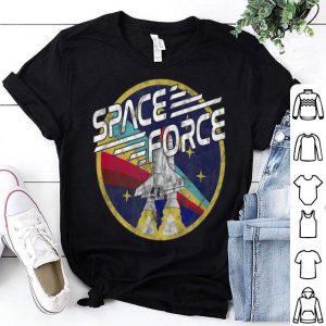 Vintage Space Force Flying Rocket Shirt