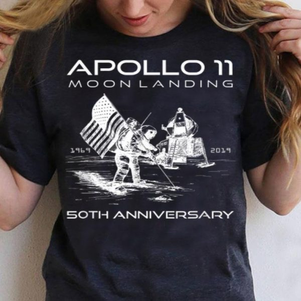 50th Anniversary Apollo 11 Moon Landing Space First Step shirt