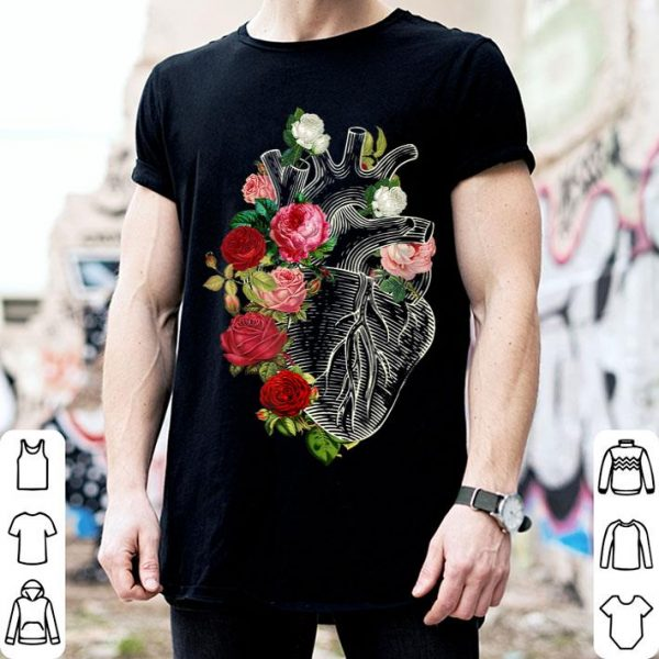 Anatomical Heart And Flowers Show Your Love shirt