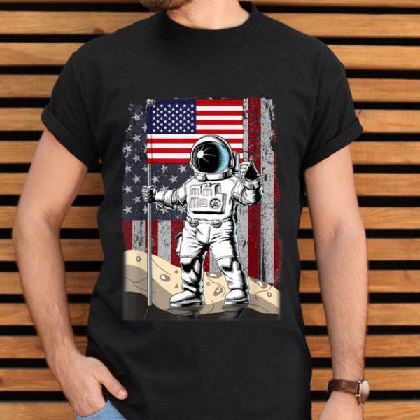 Apollo 11 50th Anniversary Astronaut american flag shirt