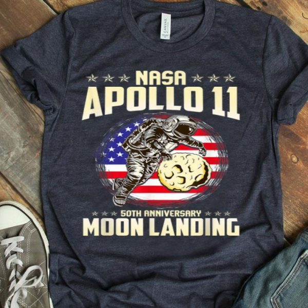 Apollo 11 50th Anniversary First Step On The Moon Moon Landing 1969 2019 shirt