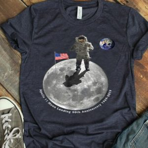 Apollo 11 50th Anniversary Moon Landing 1969 2019 Distressed First Step On The Moon shirt