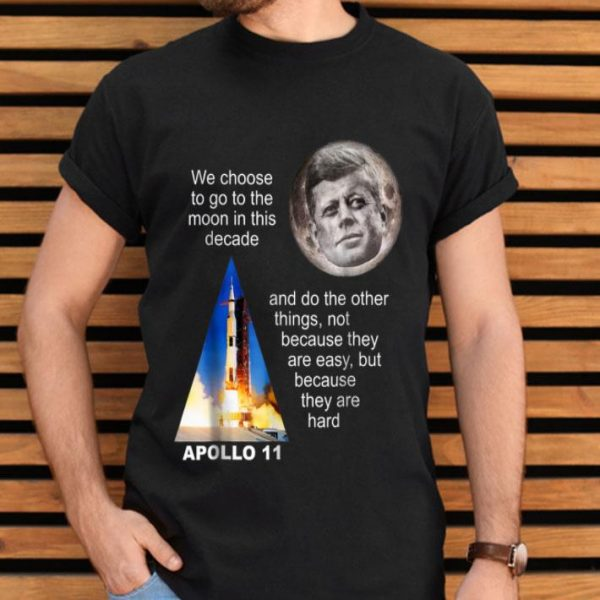 Apollo 11 Launch, JFK Quote shirt