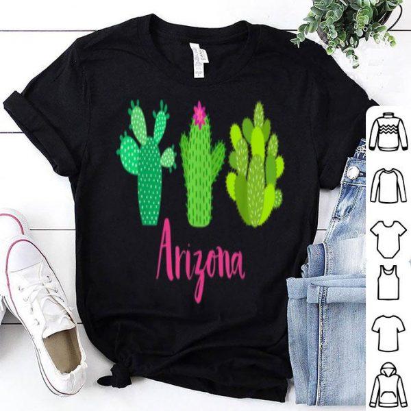 Arizona Cactus Plant With Flower For Women shirt