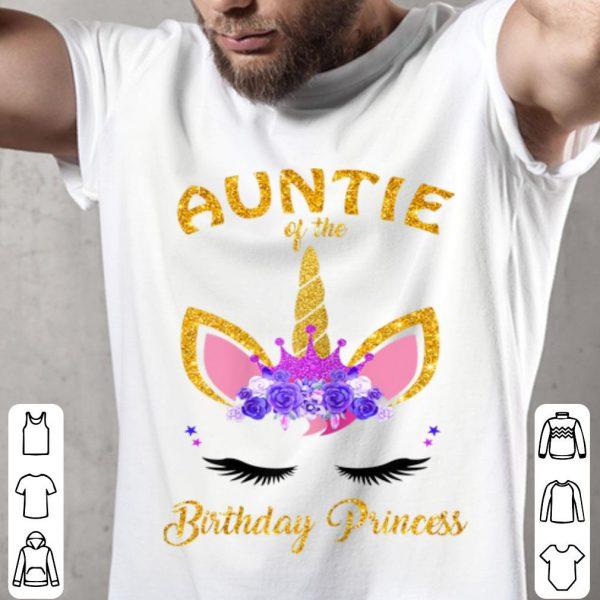Aunt Of The Birthday Princess Unicorn Birthday Girl shirt