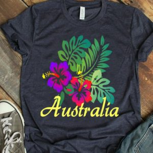 Australia Beach Tropical Flower Surf Vacay Premium shirt