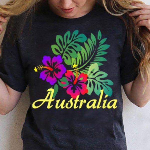 Australia Beach Tropical Flower Surf Vacay Premium shirt