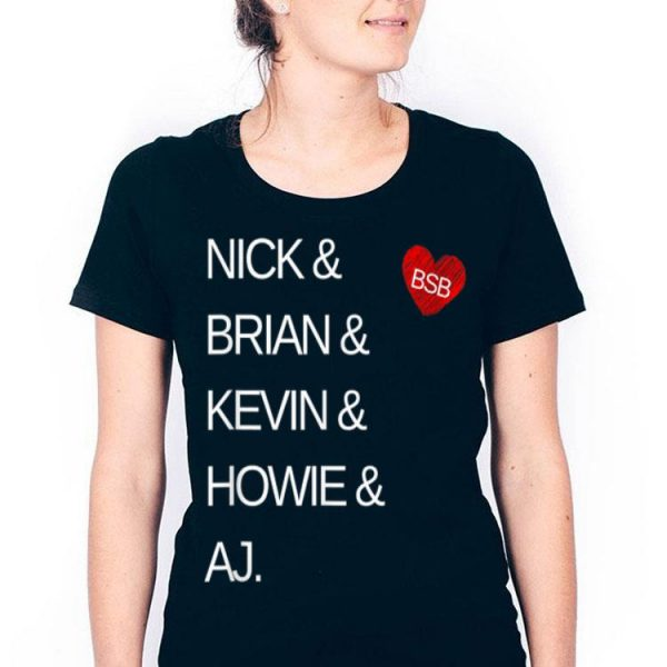 Backstreet Great Boys Band Names Music Lover 90s shirt