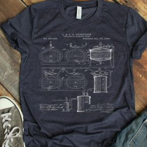 Classic Vintage Patent Print 1893 Craft Beer Brewing shirt