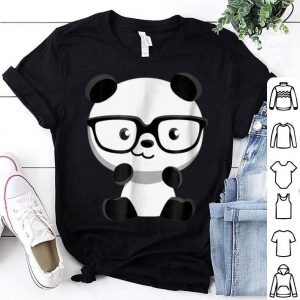 Cute Little Bear Panda Nerd With Glasses shirt