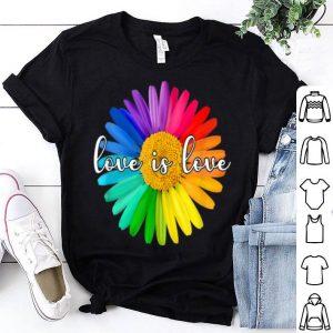 Daisy Flower Lgbt Rainbow - Love Is Love Gay Pride shirt