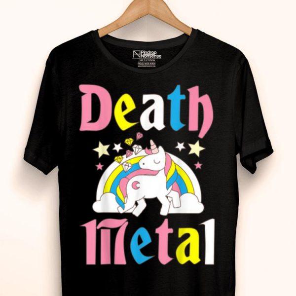 Death Metal Unicorn Cute Rock Music Lover Band shirt
