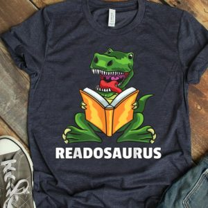Dino Read Book Dinosaurs Reading Rex Funny Cute shirt