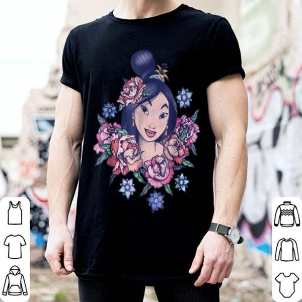 Disney Mulan Floral Portrait Vintage Graphic shirt