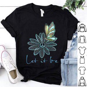 Flower Children Tees For Women Let It Be Flower Butterfly shirt