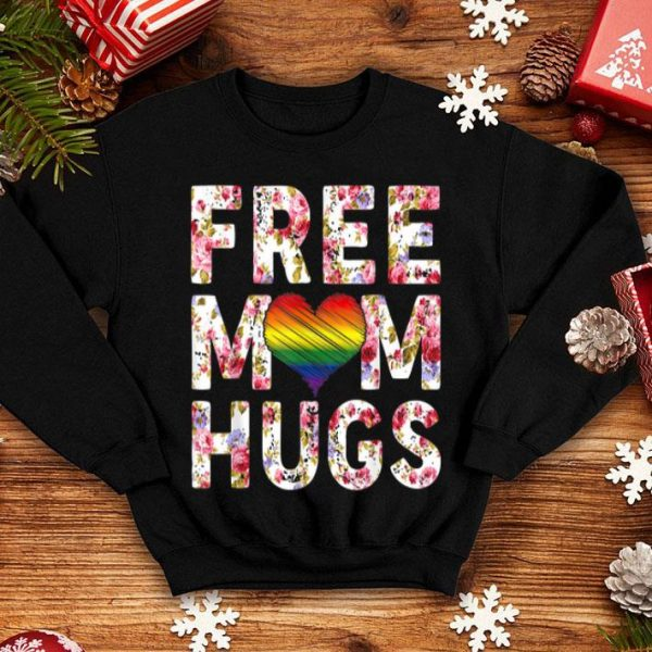 Free Mom Hugs LGBT Pride LGBT Floral Mothers Day shirt