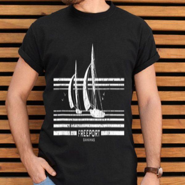 Freeport Bahamas Sailboat Vintage 70S Graphic shirt