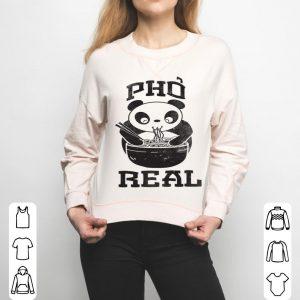 Funny Pho Real Panda Soup Foodie Noodles Vietnamese shirt