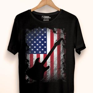 Guitar American Flag Usa Patriotic Love Music Lover shirt