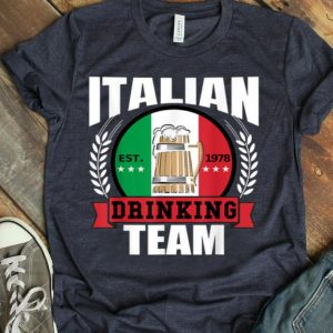 Italian Drinking Team Italy Flag Beer Party Idea shirt