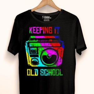 Keeping It Old School 80s 90s Boombox Retro Music Lover shirt