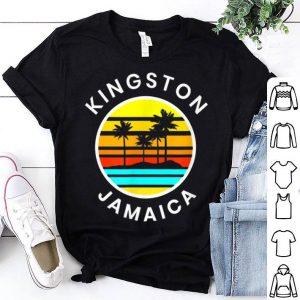 Kingston Jamaica Vacation Sunset Palm Trees shirt