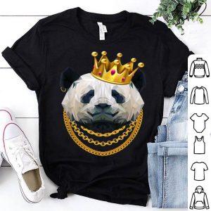 Panda Bear Gangster Golden Crown King shirt