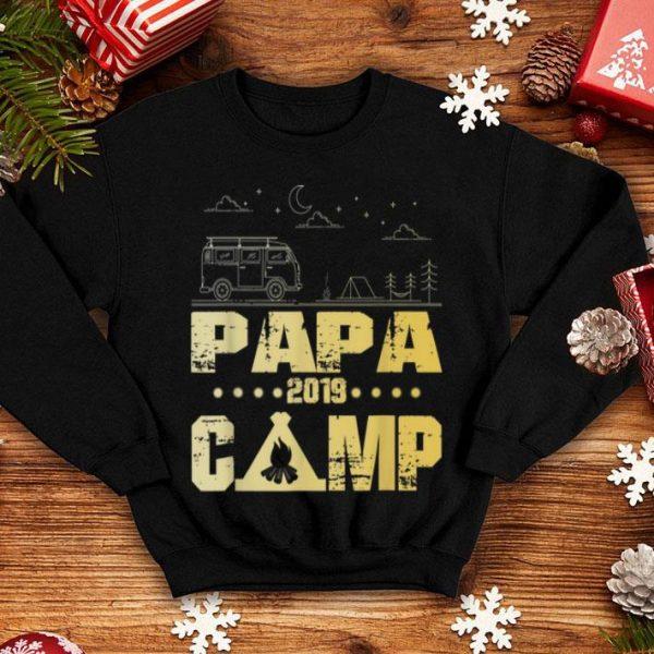 Papa Camp 2019 Family Vacations Vintage Camping shirt