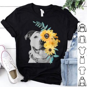 Pit Bull Mom Face Flower - Mothers Day shirt